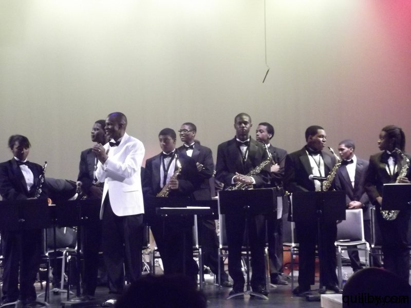Members of the Cecily Tyson School Jazz Band