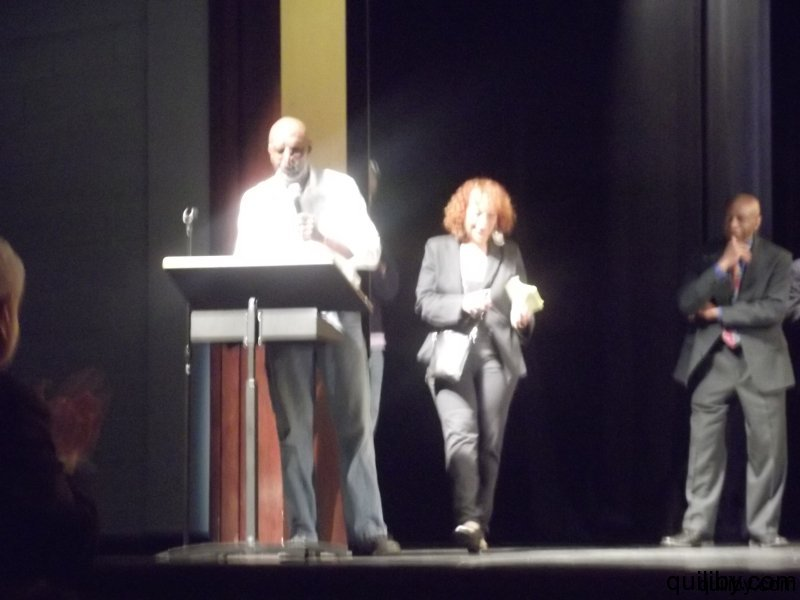 T.S. Monk addresses the audience and students after the performances.